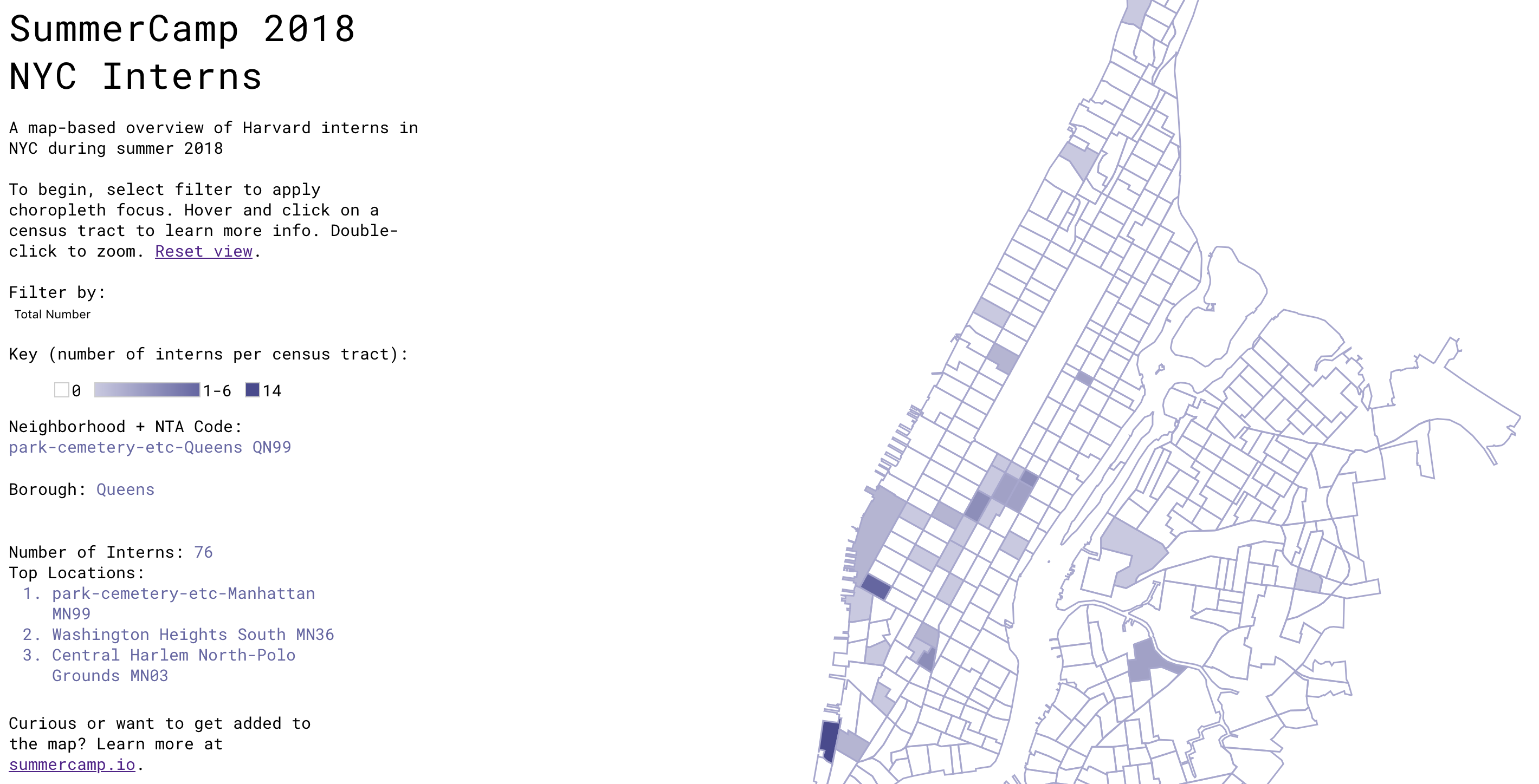 Mapping out SummerCamp NYC 2018 · Michael Zhang